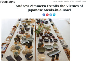 Andrew Zimmern Loves TOIRO and our Donabe!