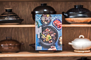 Our donabe is featured on the cover of Bon Appétit Magazine