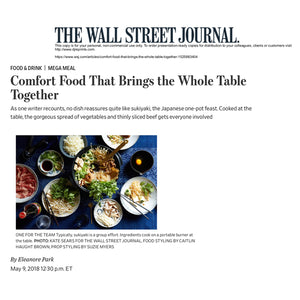 We are introduced in The Wall Street Journal again!