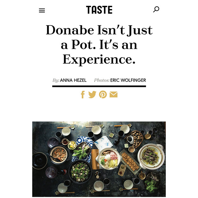 Naoko is interviewed by Taste Magazine