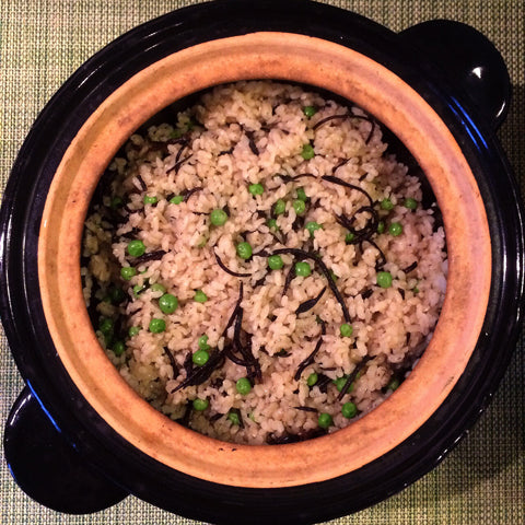 English Peas and Hijiki Rice