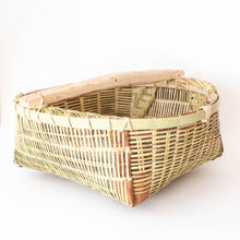 Japanese Cherry Farmer's Basket with Handle