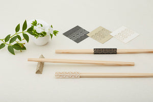 Rikyu Chopsticks with Origami Rest Set 5