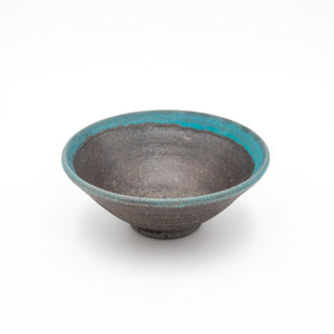 Hechimon Ibushi Turquoise Blue Small Bowl
