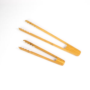 Kyoto Bamboo Grooved Tongs