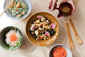 En Blue Two Tone Donburi Bowl