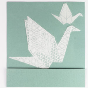 Washi dECO Origami for Window Decoration (Crane)