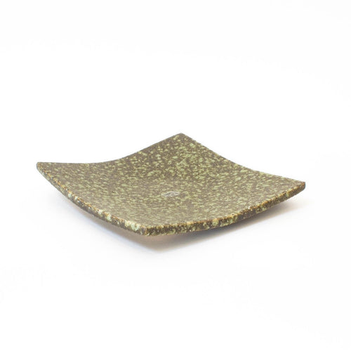 Tohen Green Rust Square Plate
