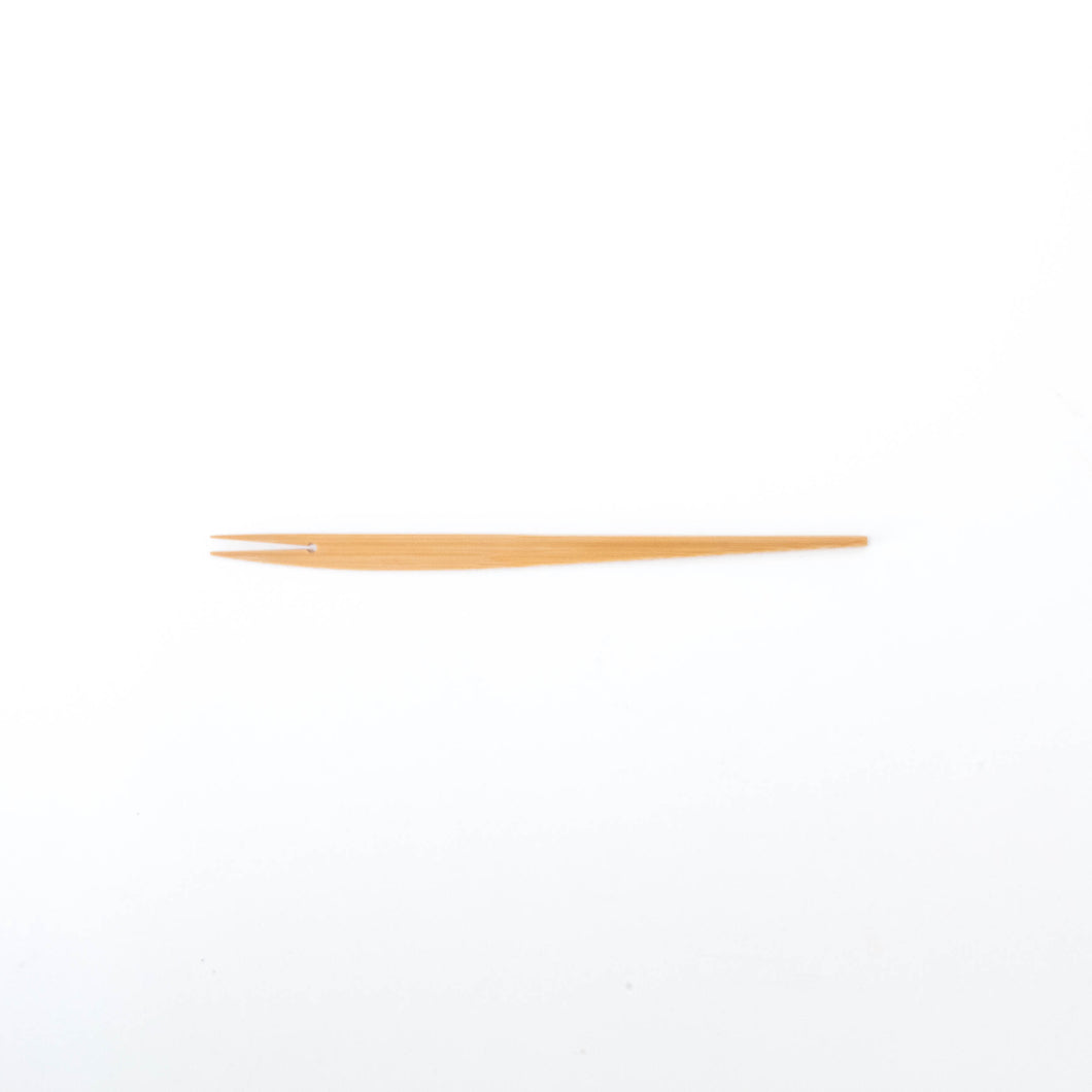 Bamboo Fish-Design Dessert Fork (Long) by Kai Nobuo Kobo - Natural