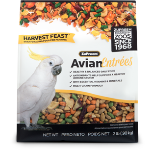 Zupreem Avian Entrees- Harvest Feast- Large Parrots