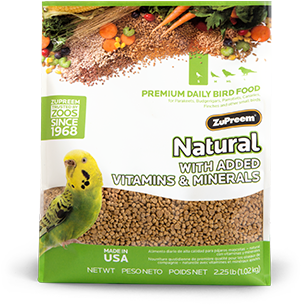 Zupreem Premium Daily Bird Food- Parakeet