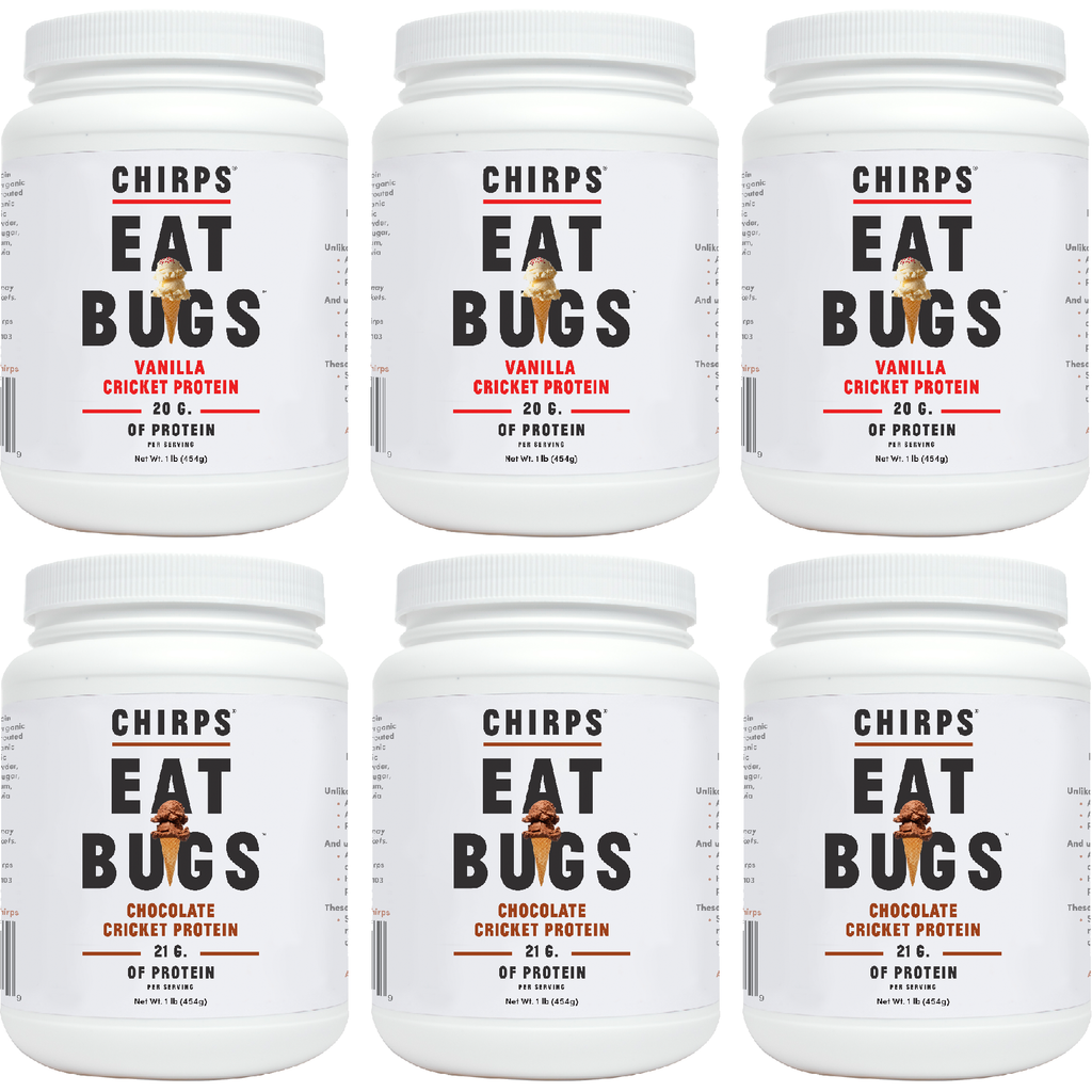 Case of Cricket Protein Powder (6 Tubs)