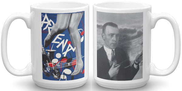 Heartfield Art Mug Arena Jazz Heartfield Portrait - famous political art mug