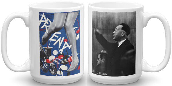 Heartfield Art Mug Arena Jazz Weimar Republic Politics - famous political art mug