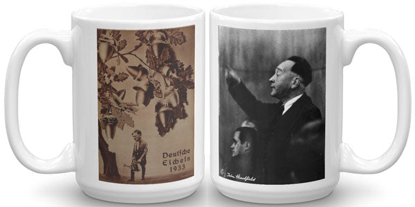 Heartfield Art Mug Deutsche Eicheln Weimar Republic Politics - famous political art mug