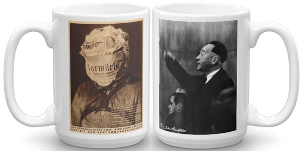 Heartfield Art Mug Fake News Mug Weimar Republic Politics - famous political art mug
