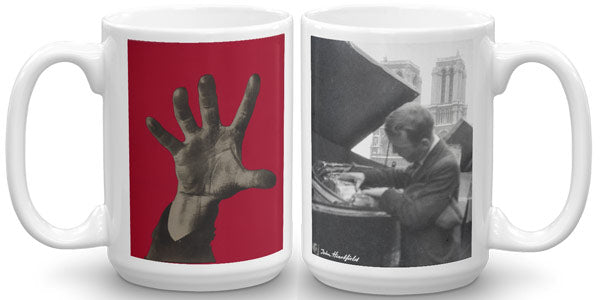 "Famous political art mug. John Heartfield ""Five Fingers Has The Hand"""