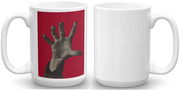 "Weimar Republic Mug with famous political symbol ""5 Fingers Has The Hand"""