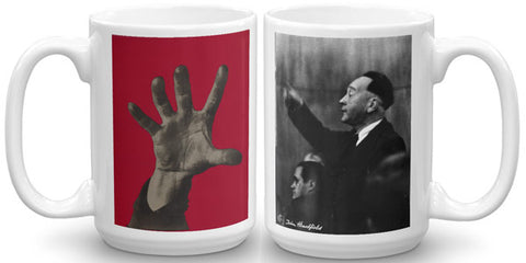 Heartfield Art Mug<br />Five Fingers<br />Weimar Republic Politics