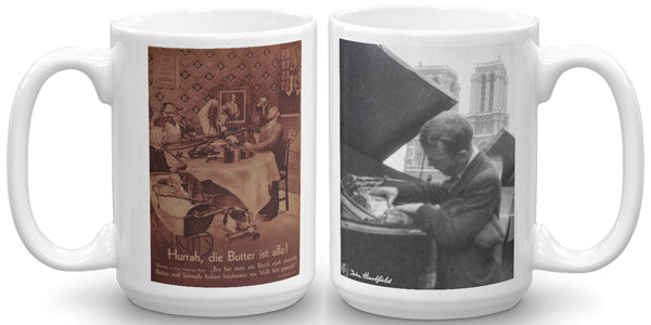 Heartfield Art Mug Hurrah Heartfield In Paris - famous political art mug