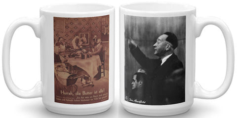 Heartfield Art Mug<br />Hurrah<br />Weimar Republic Politics