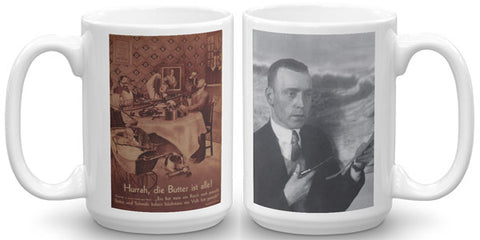 Heartfield Art Mug<br />Hurrah<br />Heartfield Portrait