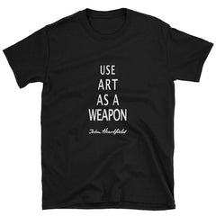 "Protest fascism t-shirt. The most famous anti-fascist slogan ""art as weapon"""