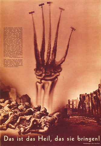 Political Posters<br /><em>This Is The Salvation...<br />(Das ist das Heil...)</em><br />John Heartfield Political Art<br />24 x 36 in (60.96 x 91.44 cm)