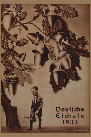 Political Poster<br /><em>German Acorns<br>(Deutsche Eicheln)</em><br />John Heartfield Political Art<br />24 x 36 in (60.96 x 91.44 cm)