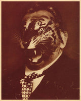 Political Posters. John Heartfield Collage - On The Crisis Party Of The SPD. Dada political artist John Heartfield