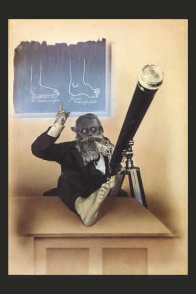 Anti-Nazi Poster. Fake Fascist Science. John Heartfield. Famous Political Art
