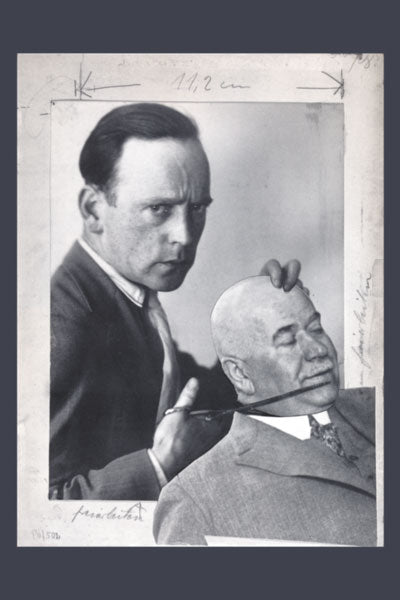 John Heartfield Collage. Exclusive Self Portrait of Antifascist Art Founder.