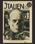 Famous anti-fascist poster sale. John Heartfield face of fascism famous Mussolini portrait