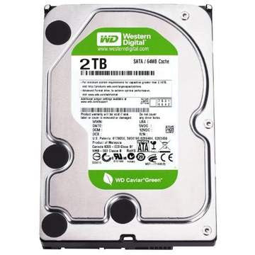 Western Digital WD 2TB Caviar Green 64 MB Buffer 3.5 Internal Hard Drive