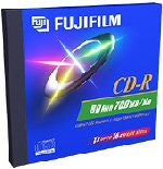 FUJI CD-R80 25301440 SILVER IN SLIM JEWEL CASE 10 PACK