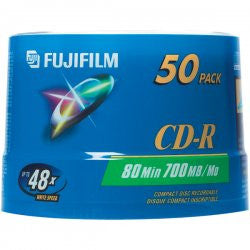 FUJI CD-R80 WHITE THERMAL HUB,  50 PACK, 25307214