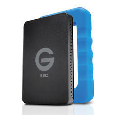 G-Technology, G-Drive ev RaW SSD, 500 GB, USB 3.0 Hard Drive with Rugged Bumper, #0G04755