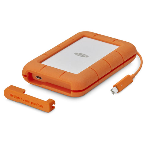 LaCie 2TB Rugged Thunderbolt / USB-C Mobile HDD, MFR # STFS2000800
