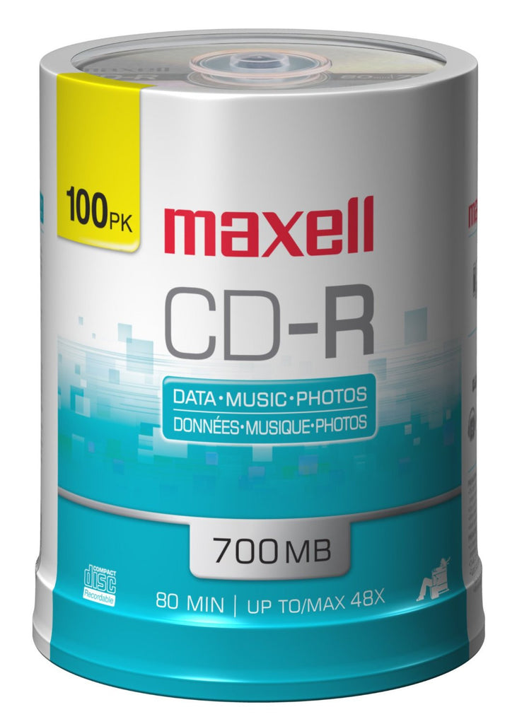 MAXELL CD-R80 SILVER BRANDED SP 100,  648200