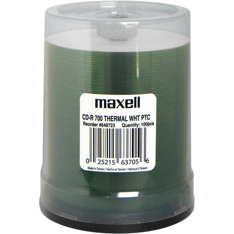 MAXELL 648723 CDR EVEREST WHITE PRINTABLE, SPINDLE 100