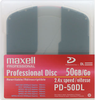 MAXELL XDCAM 50GB  229156  - PD-50DL (Discontinued)