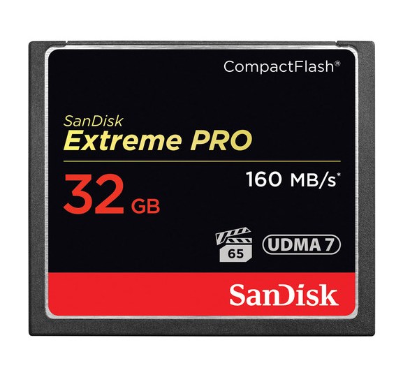 SanDisk 32GB Extreme Pro CompactFlash Memory Card (160MB/s) SDCFXPS-032G-A46