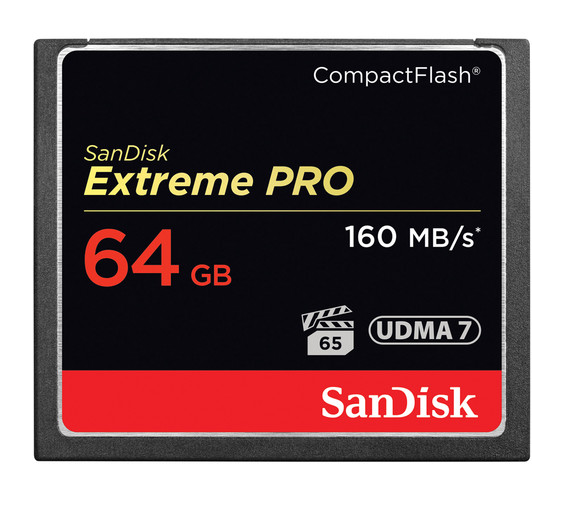 SanDisk 64GB Extreme Pro CompactFlash Memory Card (160MB/s)  SDCFXPS-064G-A46