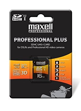 Maxell 16GB Professional Plus Class 10 UHS-1 SDHC Card (Discontinued)
