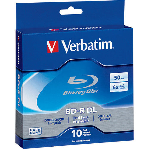VERBATIM BLU-RAY DUAL LAYER 50GB SILVER BRANDED SP10, 97335