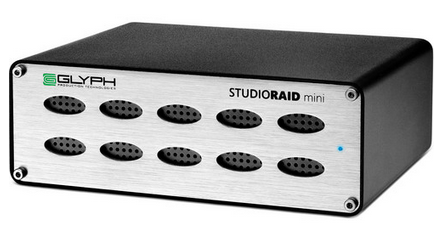 Glyph Technologies 480GB StudioRAID Mini Portable Hard Drive (SSD) - Mfr. #SRMSSD480 (Discontinued, consider using Glyph #A1000GRY or SLV)