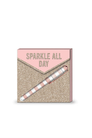 Sparkle All Day Notepad & Pen