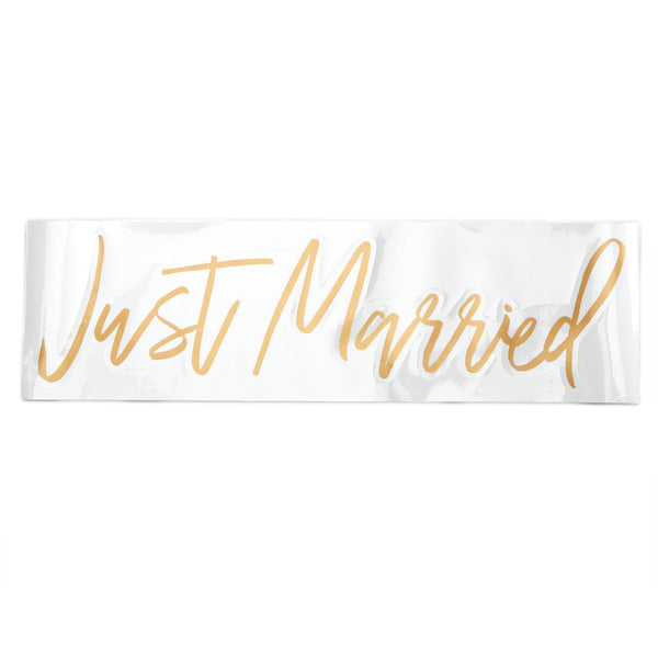 """Just Married"" Window Decal"