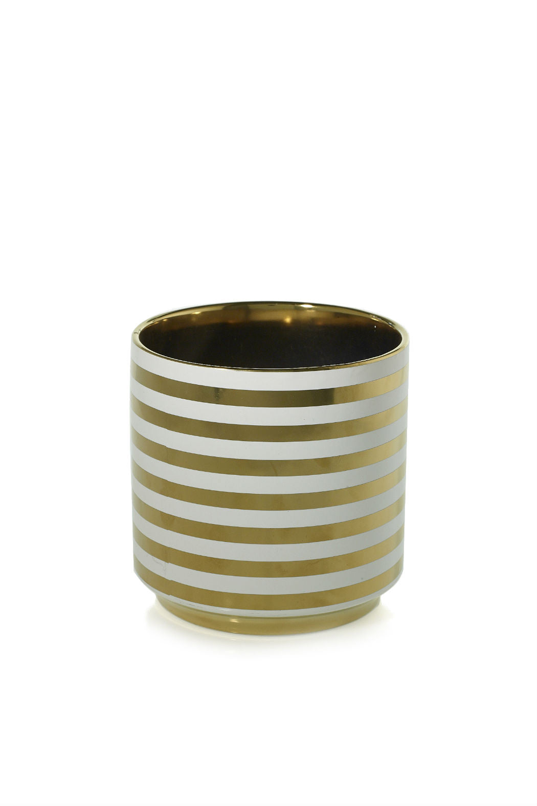 Gold Striped Pot - New Orientation  - 1
