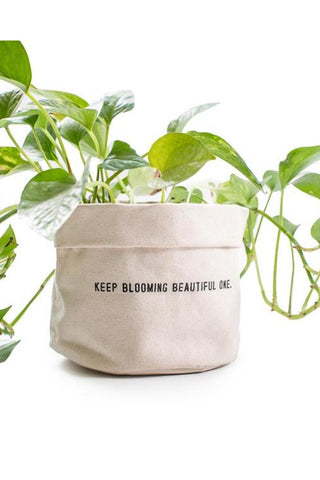 Keep Blooming Beautiful One Canvas Planter